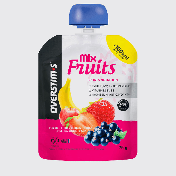 OVERSTIMS Energy - Mix Fruits Apple Red Berries Banana, Energy Gel, Overstims - Gone Running