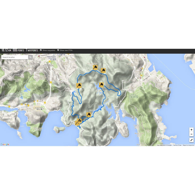 King of the Hills Hong Kong Half (2015), GPX file, Gone Running - Gone Running