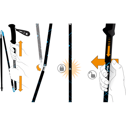 Black Diamond Distance Carbon Z Trekking Poles, Poles, Black Diamond - Gone Running
