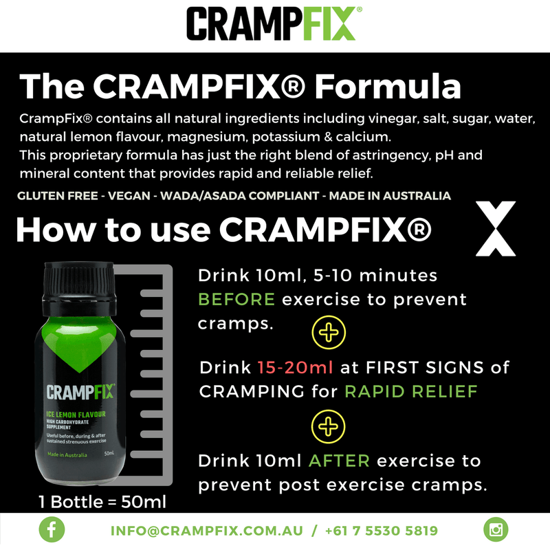 CrampFix QuickFix Shot (Individual 20ml Packet), Shots, CrampFix - Gone Running