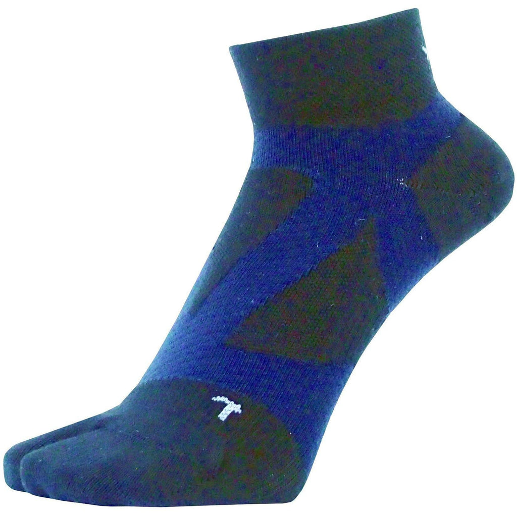 Yamatune 2 Toe Socks-  Middle Length with Anti-slip Dots, Socks, Yamatune - Gone Running