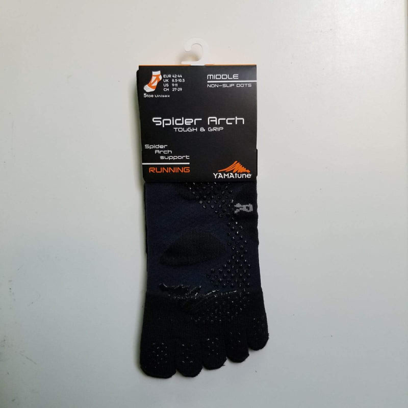 Socks - Yamatune Support Toe Socks - Middle Length With Anti-Slip Dots
