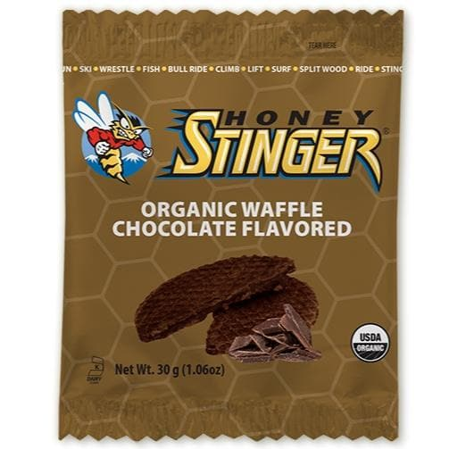Honey Stinger Waffle - Chocolate, Sports Bar, Honey Stinger - Gone Running