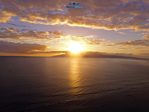 #AboveMaui - Aerial Sunset View 12/6/15