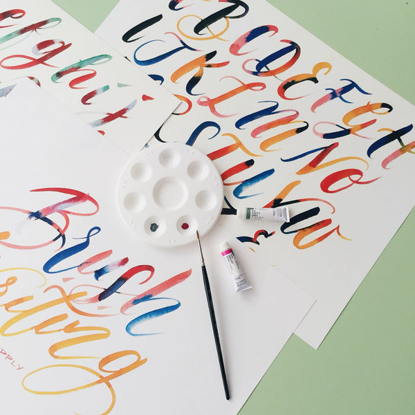 Calligraphy Class / Brush Writing with The Letter J Supply / 11 Nov