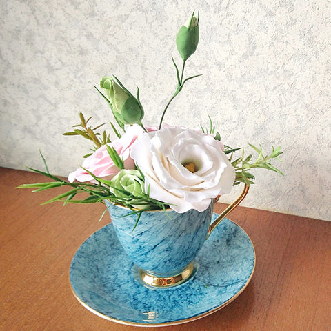 Craft Class / Vintage Tea Cup Clay Flower Arrangement (Basic) / 22 Oct