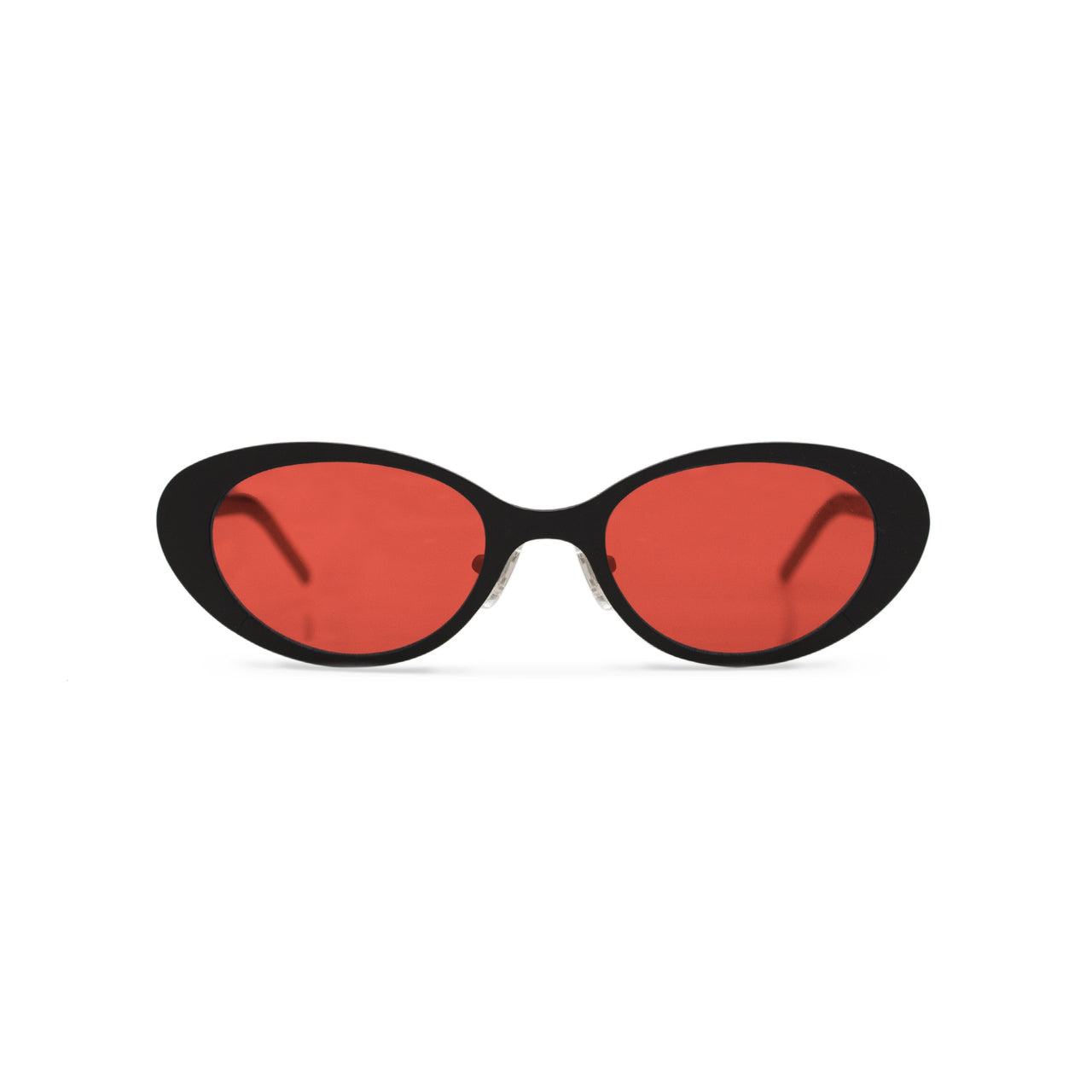 Metal. Matte Black. Scarlet Lens. - BLYSZAK eyewear eyewear - eyewear, optical, sunglasses