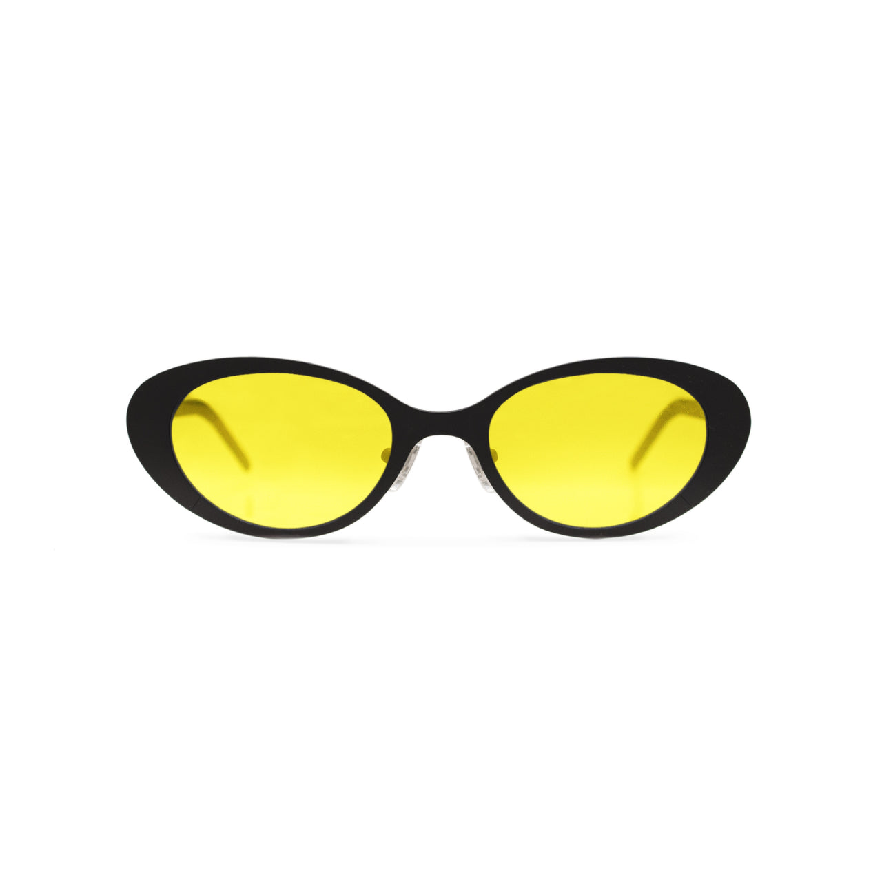 Metal. Matte Black. Saffron Lens. - BLYSZAK eyewear eyewear - eyewear, optical, sunglasses