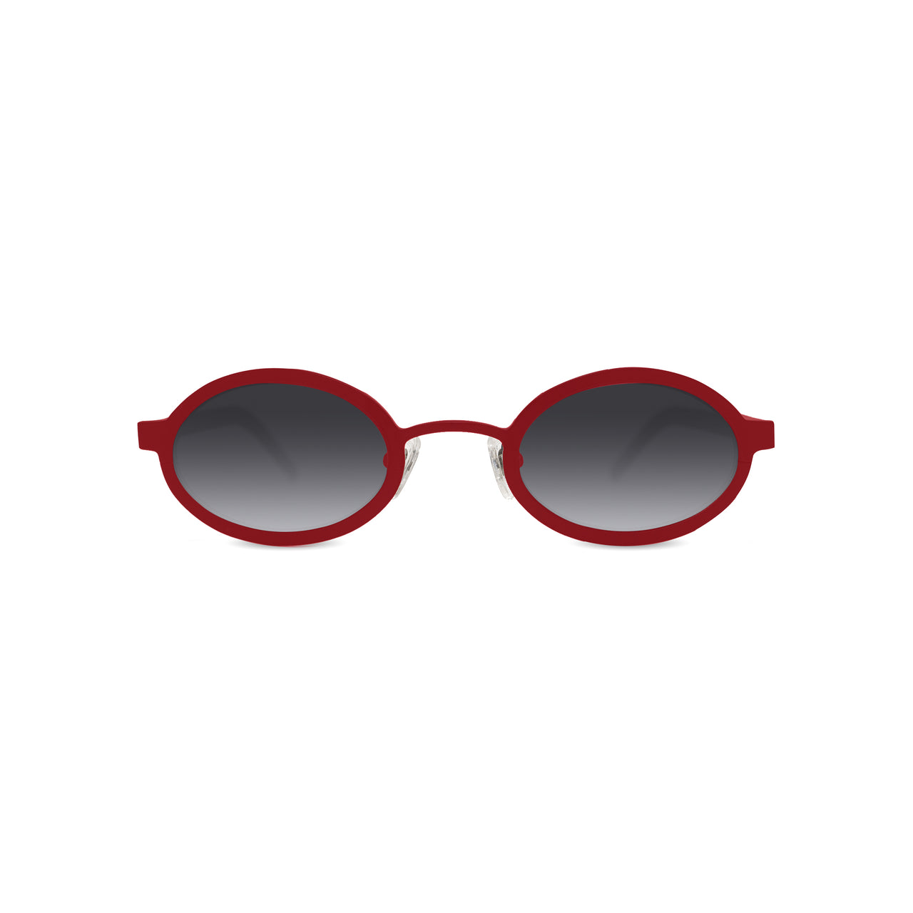Metal. Gloss Scarlet. Black Mirror Lens. - BLYSZAK eyewear eyewear - eyewear, optical, sunglasses