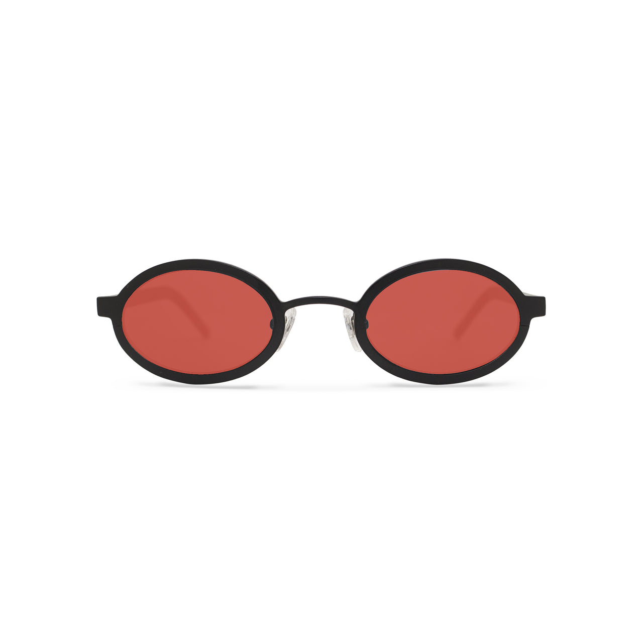 Metal. Gloss Black. Scarlet Lens. - BLYSZAK eyewear eyewear - eyewear, optical, sunglasses