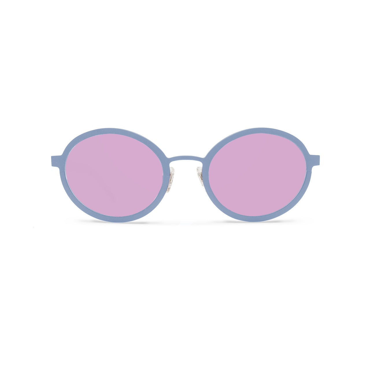 Metal. Matte Powder Blue. Sherbert Mirror Lens. - BLYSZAK eyewear eyewear - eyewear, optical, sunglasses
