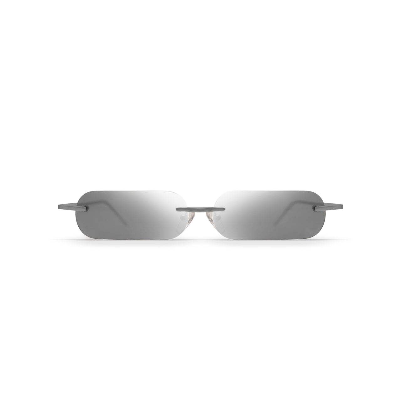 Metal. Brushed Silver. Silver Mirror Lens. - BLYSZAK eyewear eyewear - eyewear, optical, sunglasses