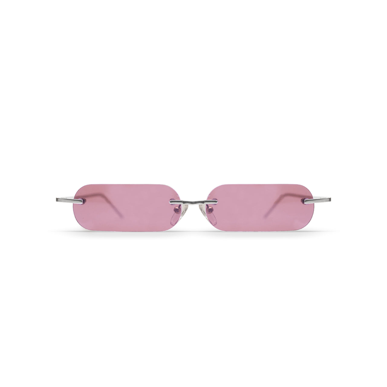 Metal. Polished Silver. Blush Lens. - BLYSZAK eyewear eyewear - eyewear, optical, sunglasses