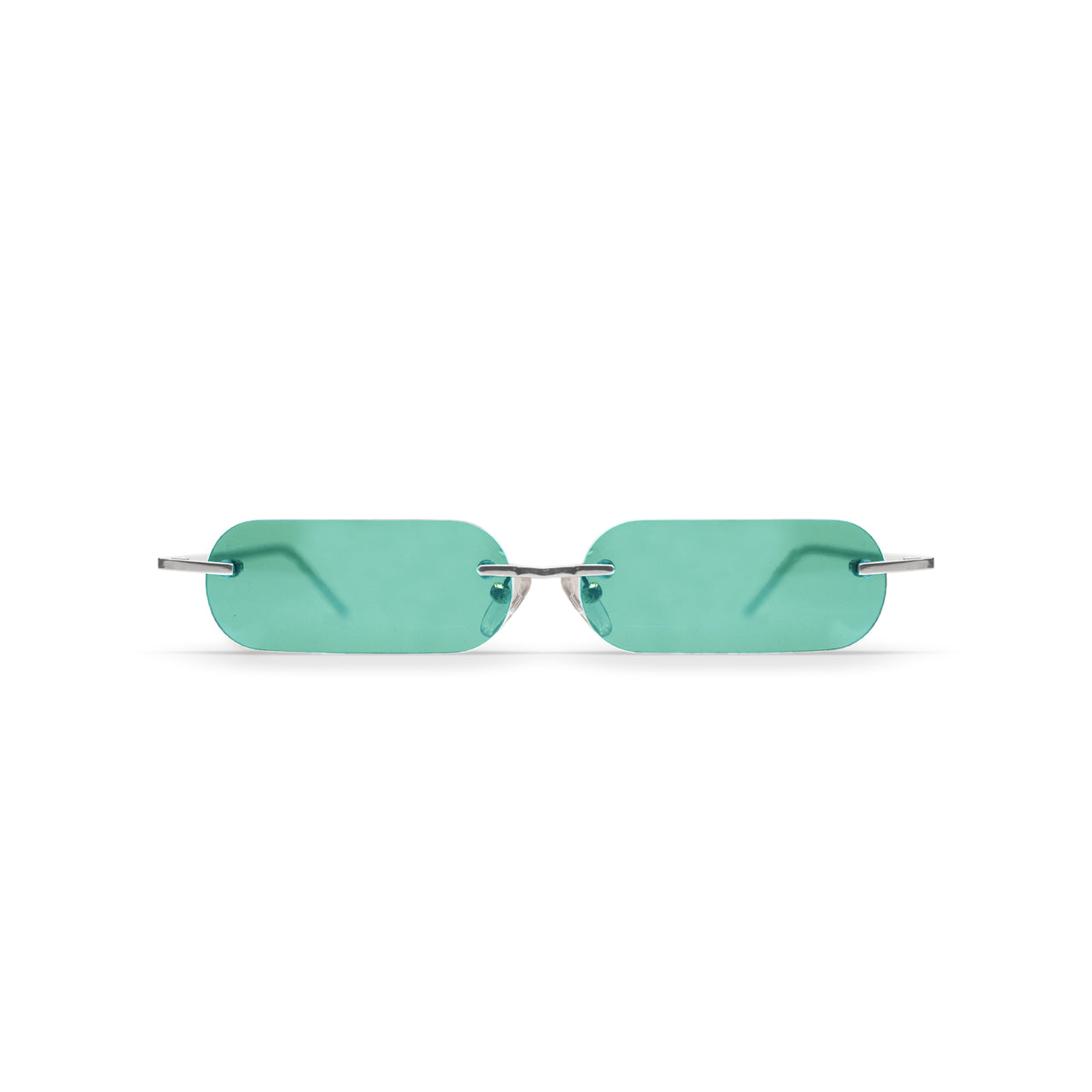 Metal. Polished Silver. Jade Lens. - BLYSZAK eyewear eyewear - eyewear, optical, sunglasses