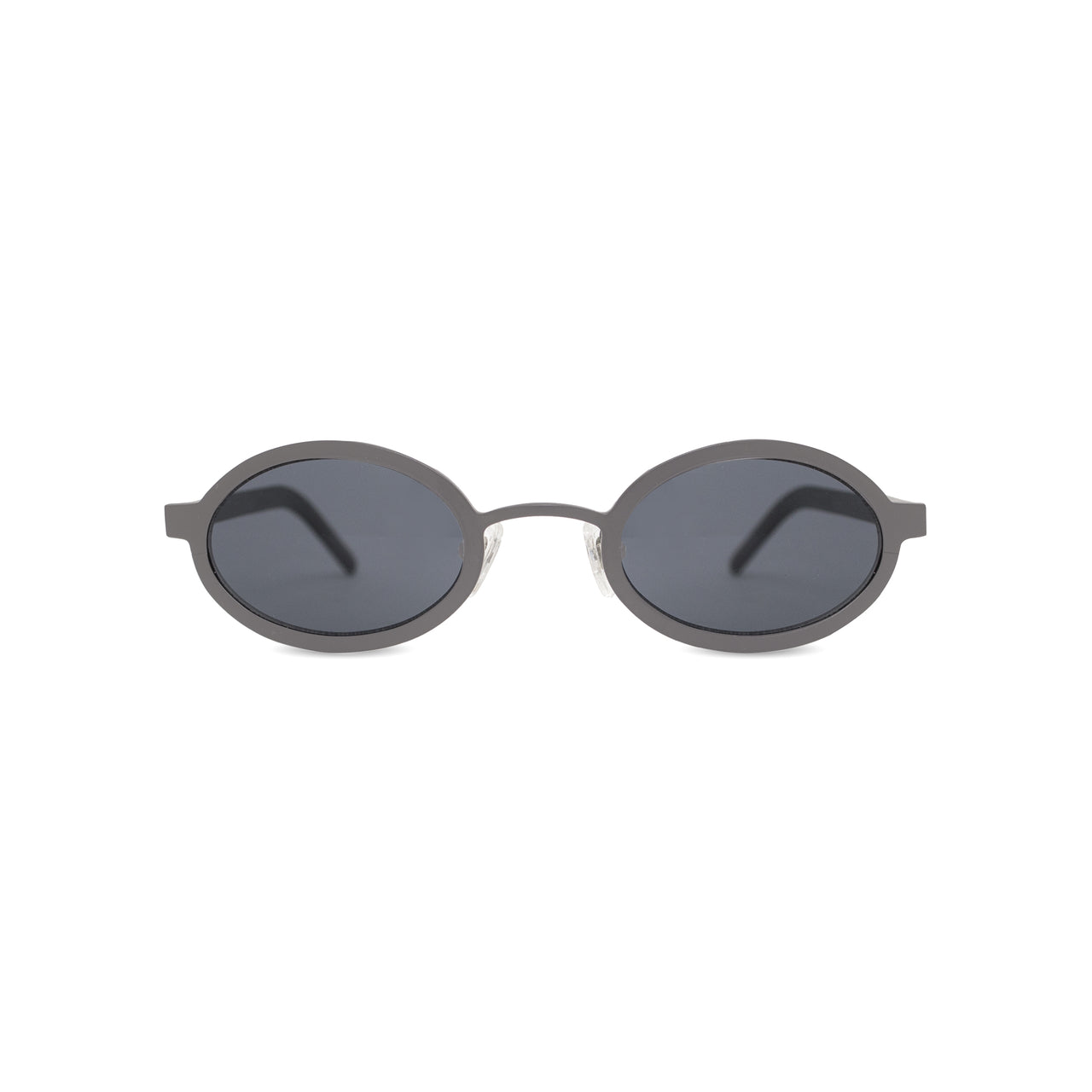 Metal. Brushed Silver. Black Lens. - BLYSZAK eyewear eyewear - eyewear, optical, sunglasses