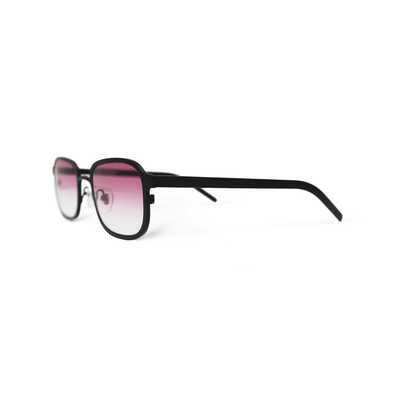 Metal. Gloss Black. Blush Lens. - BLYSZAK eyewear  - eyewear, optical, sunglasses