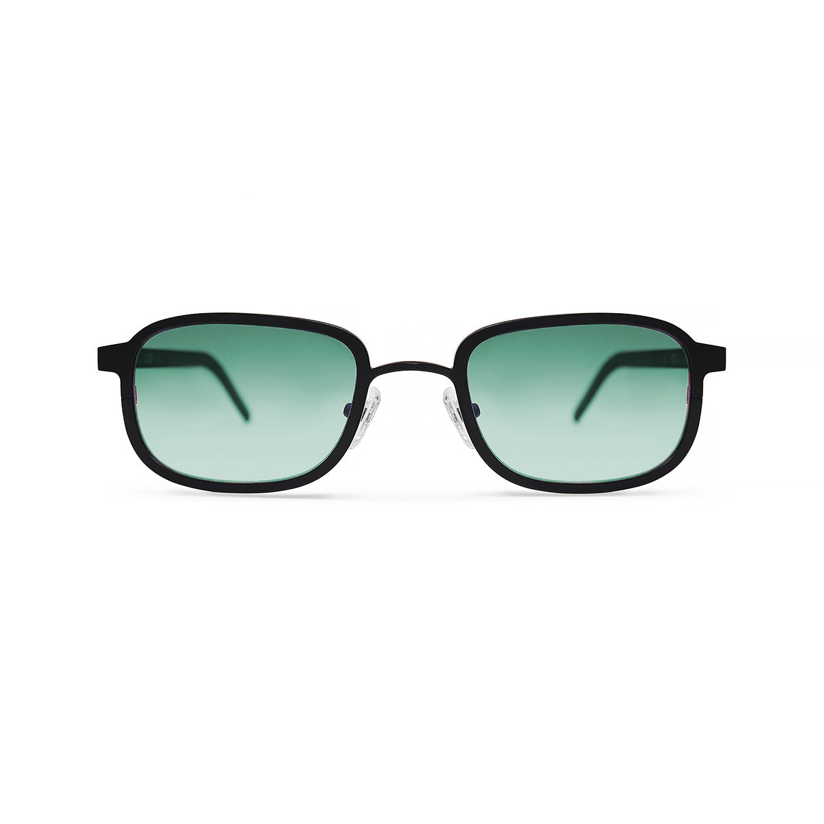 Metal / Horn. Matte Black / Dark. Jade Lens. - BLYSZAK eyewear eyewear - eyewear, optical, sunglasses