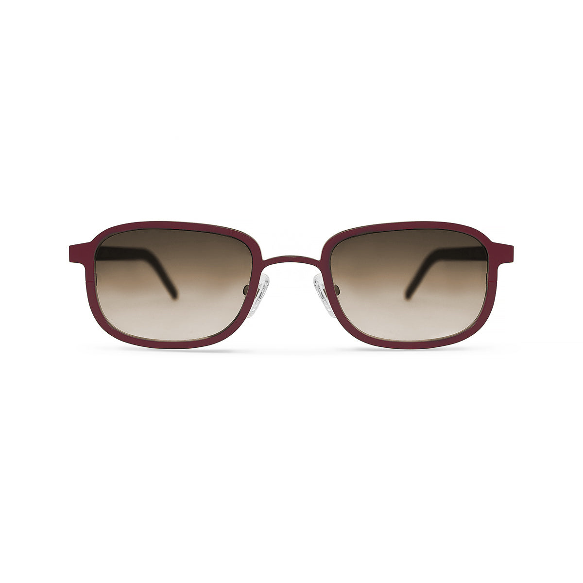 Metal. Crimson. Amber Lens. - BLYSZAK eyewear eyewear - eyewear, optical, sunglasses