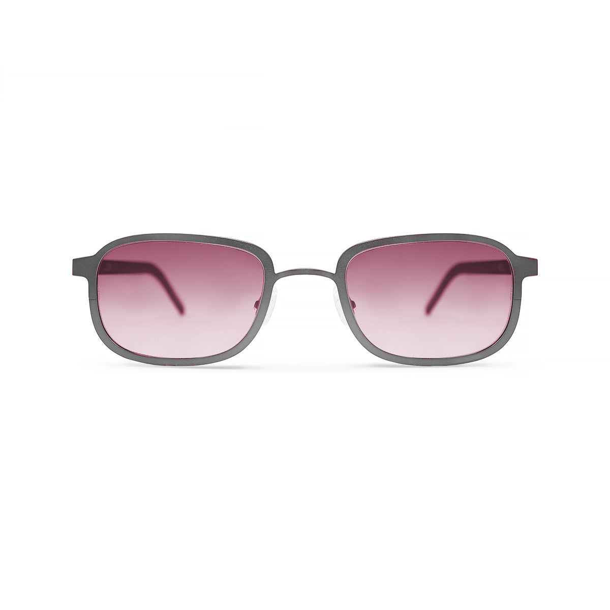 v2 of Metal. Brushed Silver. Blush Lens. - BLYSZAK eyewear eyewear - eyewear, optical, sunglasses