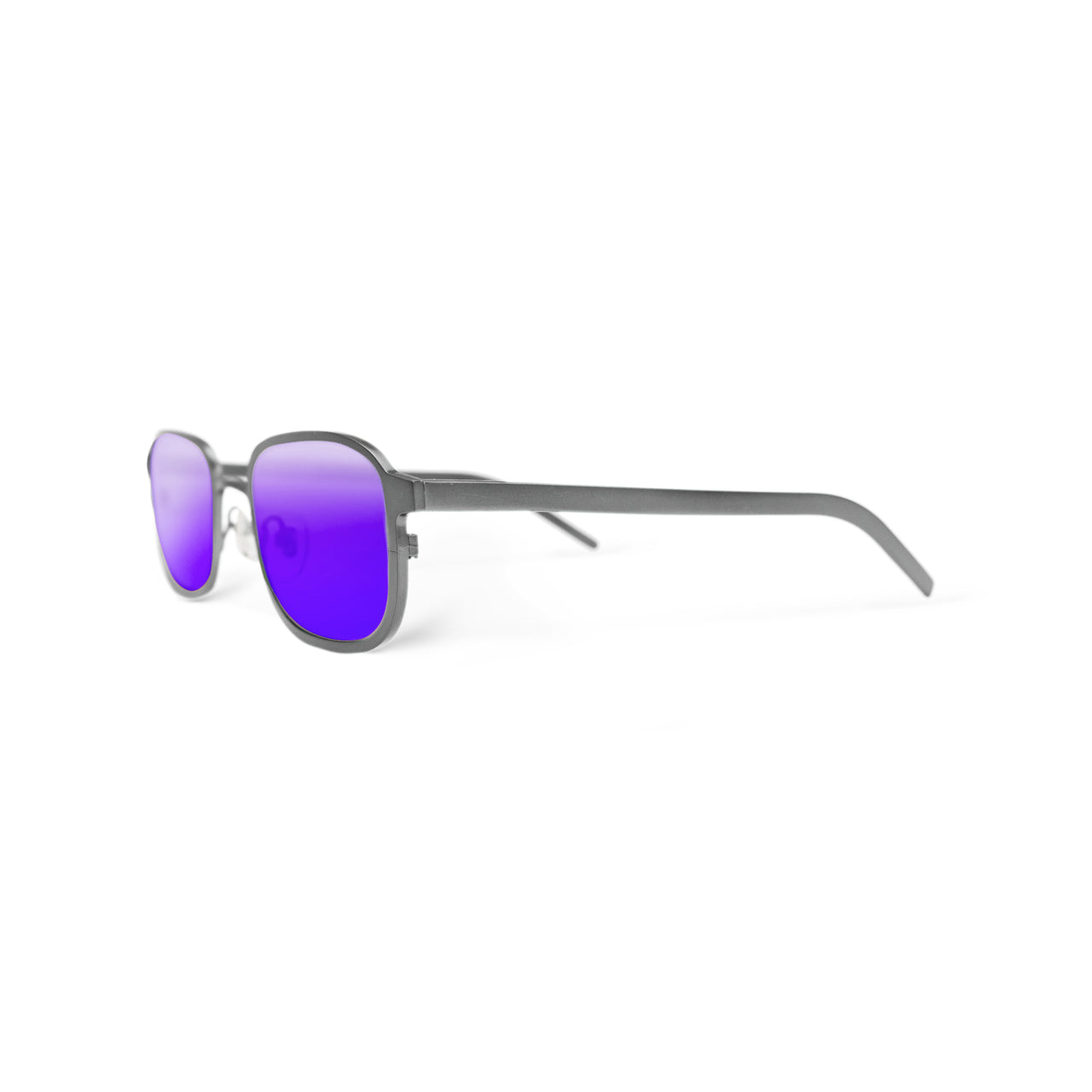 Metal. Brushed Silver. Moonlight Mirror Lens. - BLYSZAK eyewear eyewear - eyewear, optical, sunglasses
