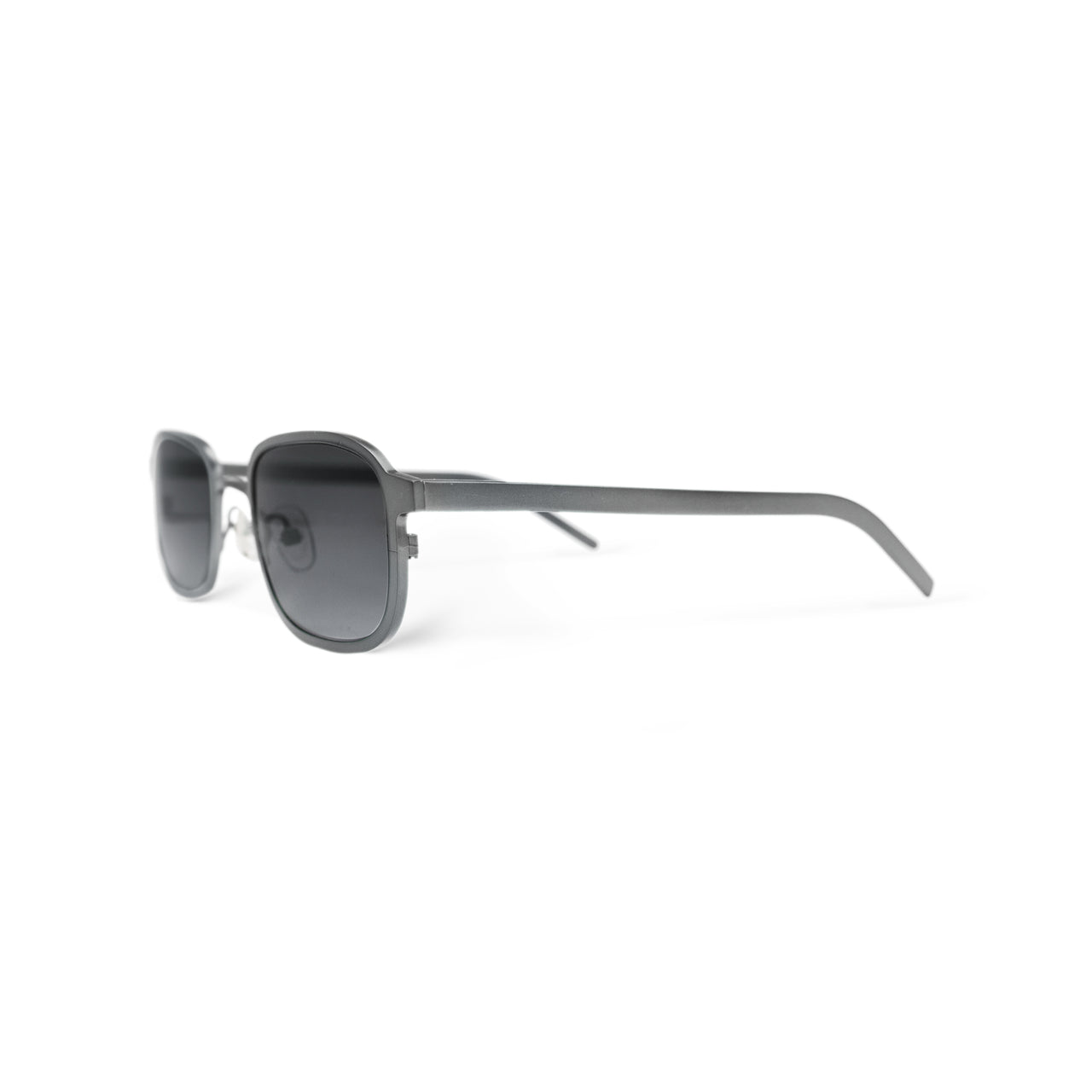 Metal. Brushed Silver. Smoke Lens. - BLYSZAK eyewear eyewear - eyewear, optical, sunglasses