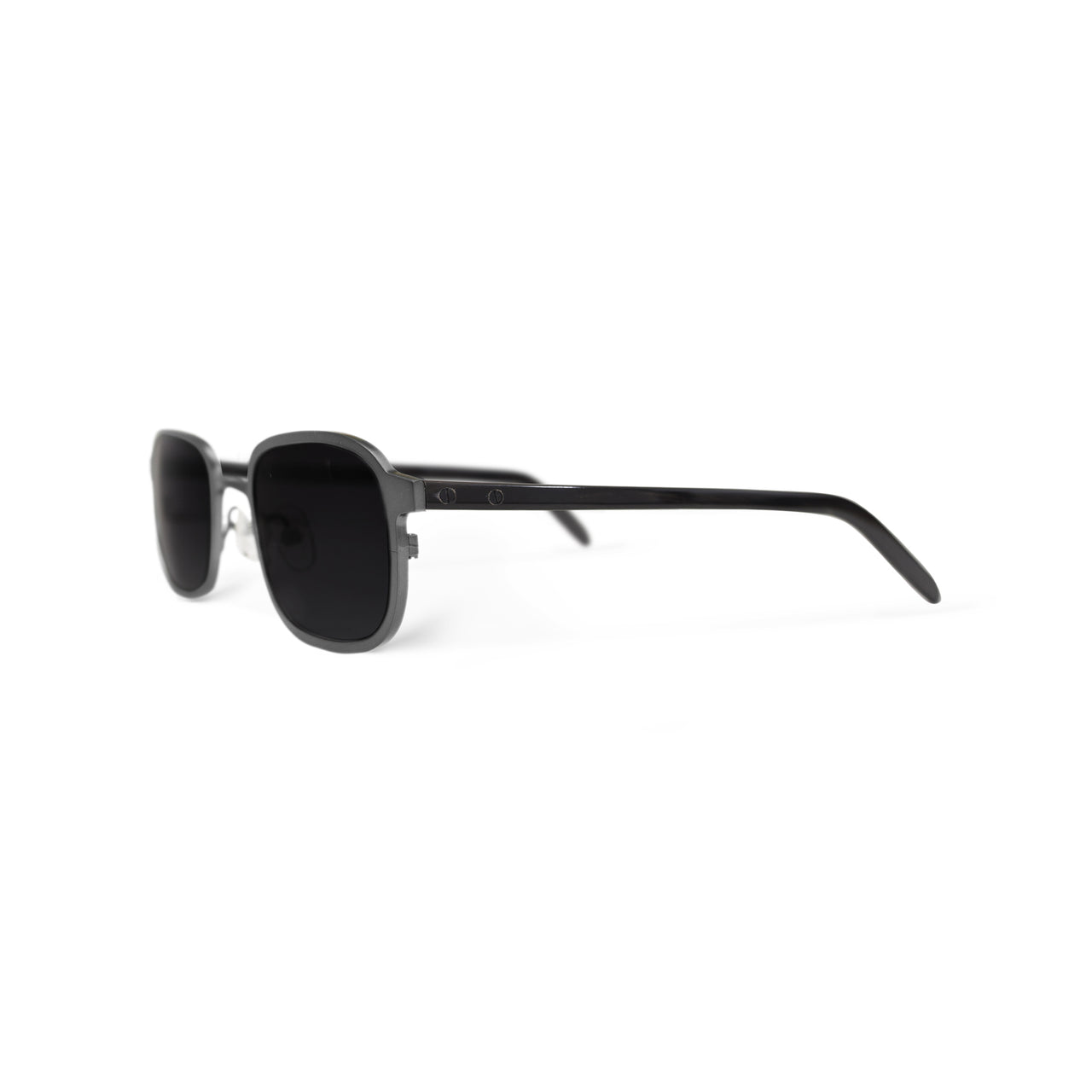 Metal / Horn. Brushed Silver / Dark. Black Lens. - BLYSZAK eyewear eyewear - eyewear, optical, sunglasses