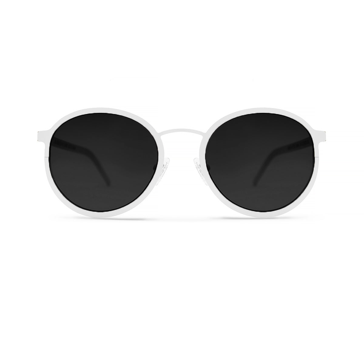Metal. Porcelain. Black Lens. - BLYSZAK eyewear  - eyewear, optical, sunglasses