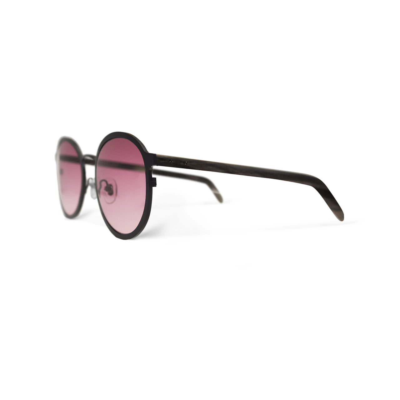 Metal / Horn. Matte Black / Dark. Blush Lens. - BLYSZAK eyewear eyewear - eyewear, optical, sunglasses