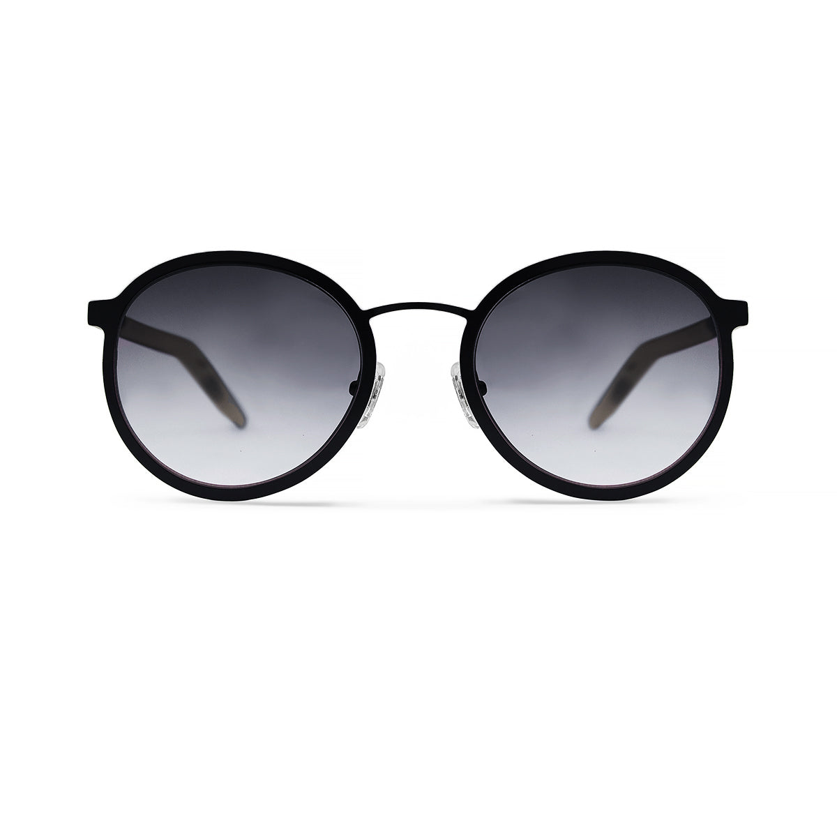 Metal / Horn. Matte Black / Tortoise. Smoke Lens. - BLYSZAK eyewear eyewear - eyewear, optical, sunglasses