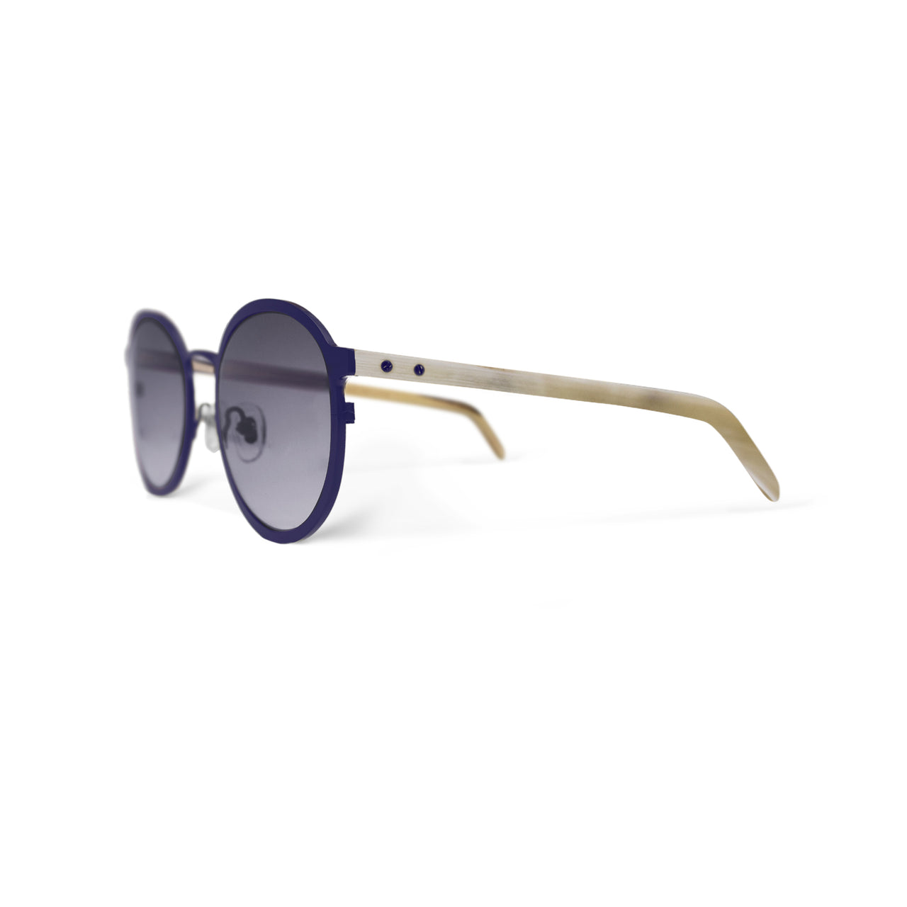 Metal / Horn. Mulberry / Oxen. Smoke Lens. - BLYSZAK eyewear eyewear - eyewear, optical, sunglasses