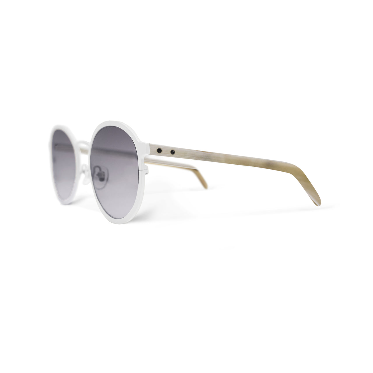 Metal / Horn. Porcelain / Oxen. Smoke Lens. - BLYSZAK eyewear eyewear - eyewear, optical, sunglasses