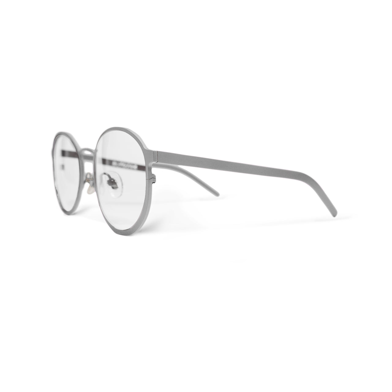 Metal. Brushed Silver. Clear Lens. - BLYSZAK eyewear  - eyewear, optical, sunglasses