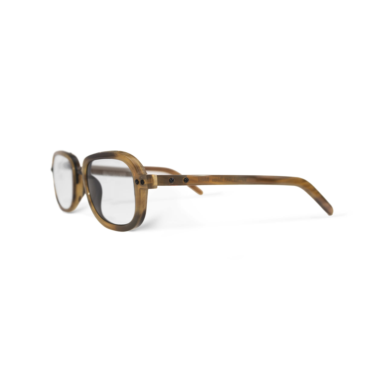 Horn. Blonde. Clear Lens. - BLYSZAK eyewear eyewear - eyewear, optical, sunglasses