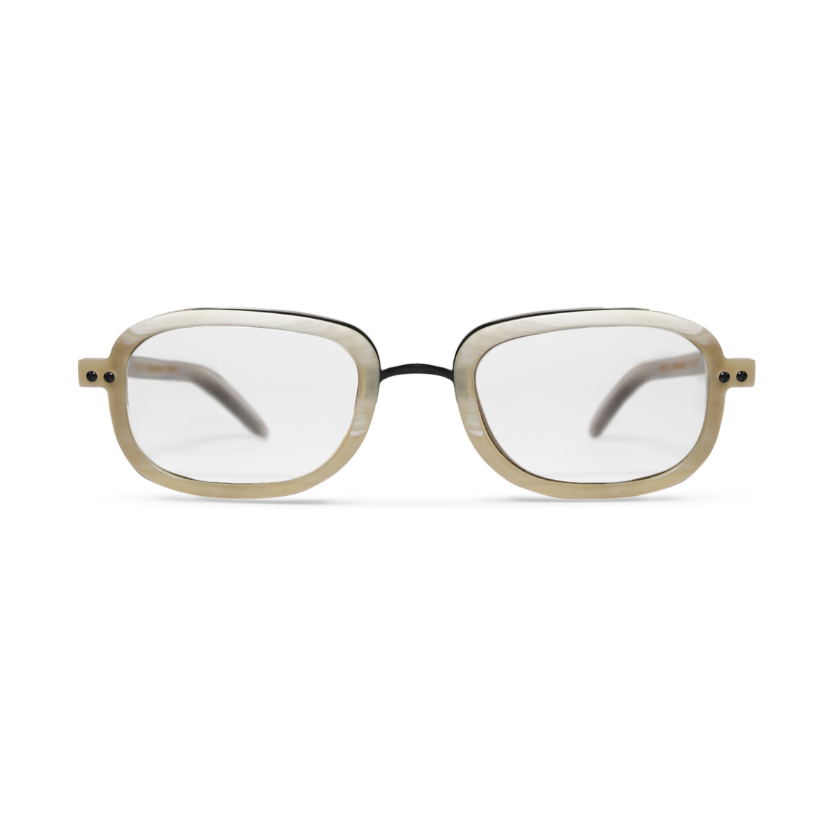 Horn. Oxen. Clear Lens. - BLYSZAK eyewear eyewear - eyewear, optical, sunglasses