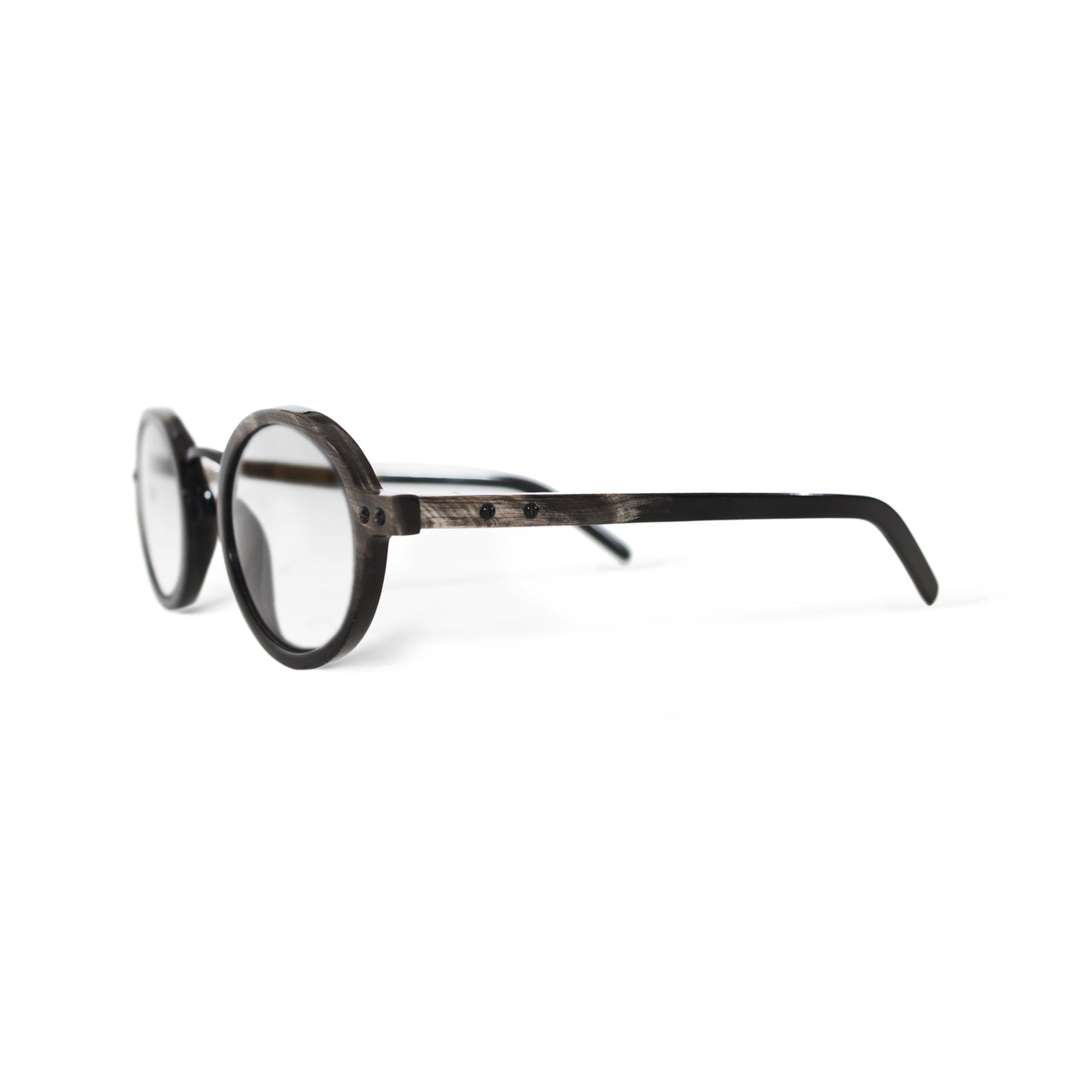 Horn. Dark. Clear Lens. - BLYSZAK eyewear eyewear - eyewear, optical, sunglasses