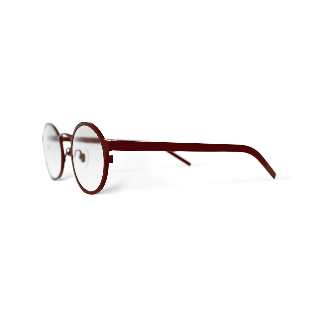 Metal. Crimson. Clear Lens. - BLYSZAK eyewear eyewear - eyewear, optical, sunglasses