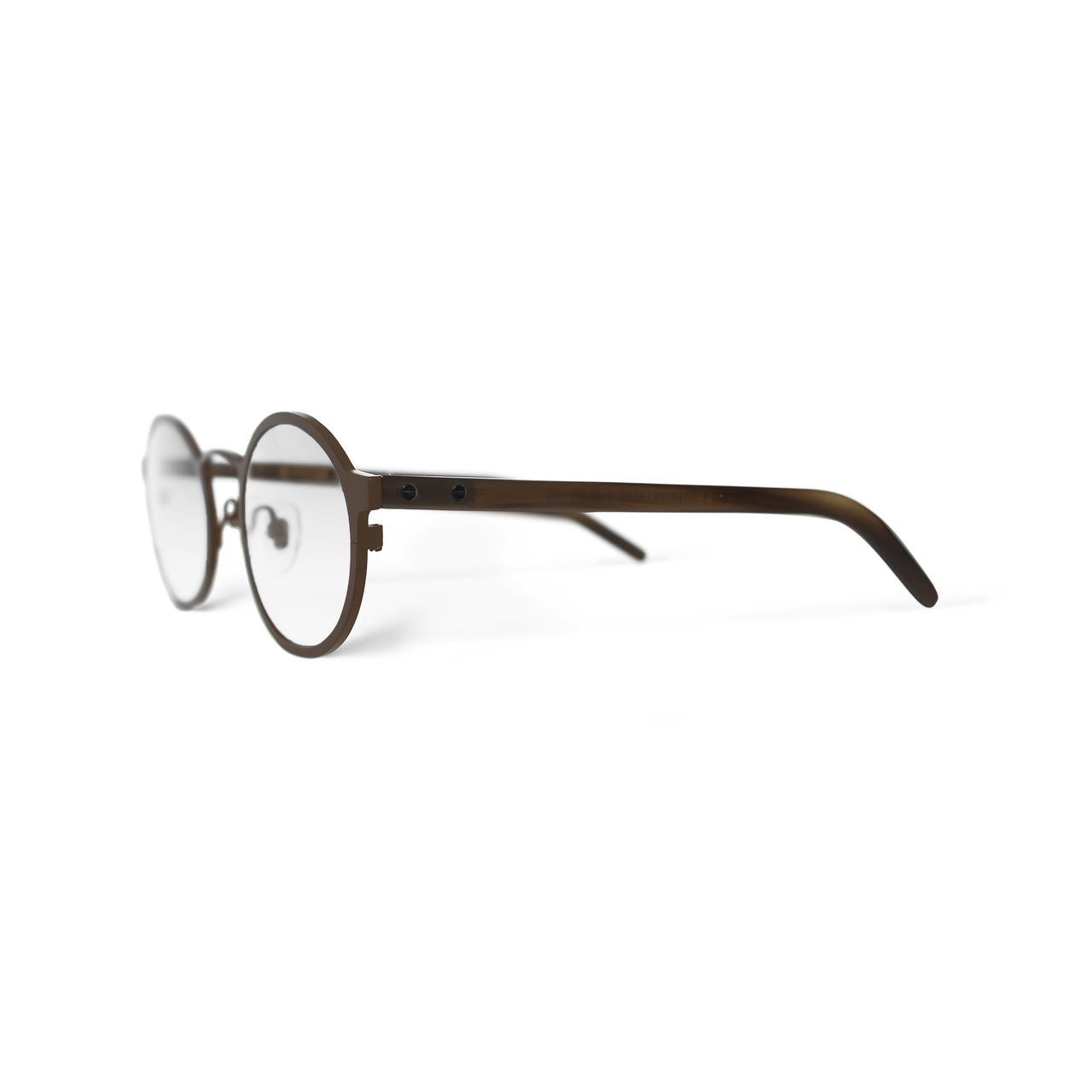 Metal / Horn. Hawthorn / Blonde. Clear Lens. - BLYSZAK eyewear eyewear - eyewear, optical, sunglasses