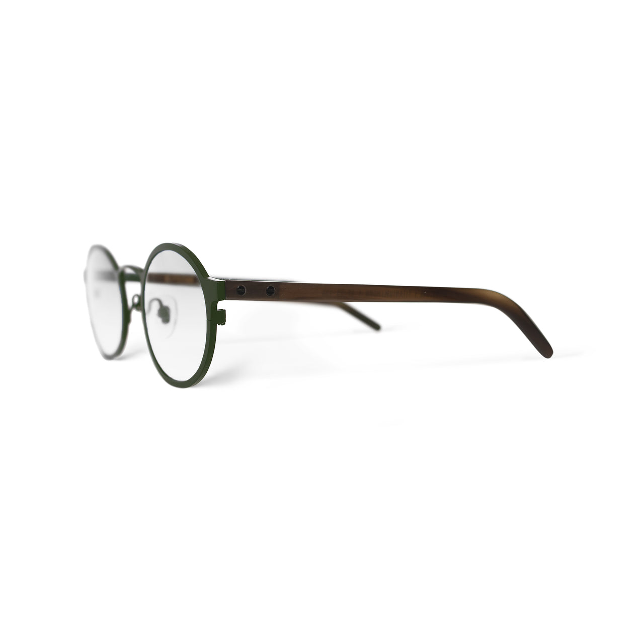 Metal / Horn. Olive / Blonde. Clear Lens. - BLYSZAK eyewear eyewear - eyewear, optical, sunglasses