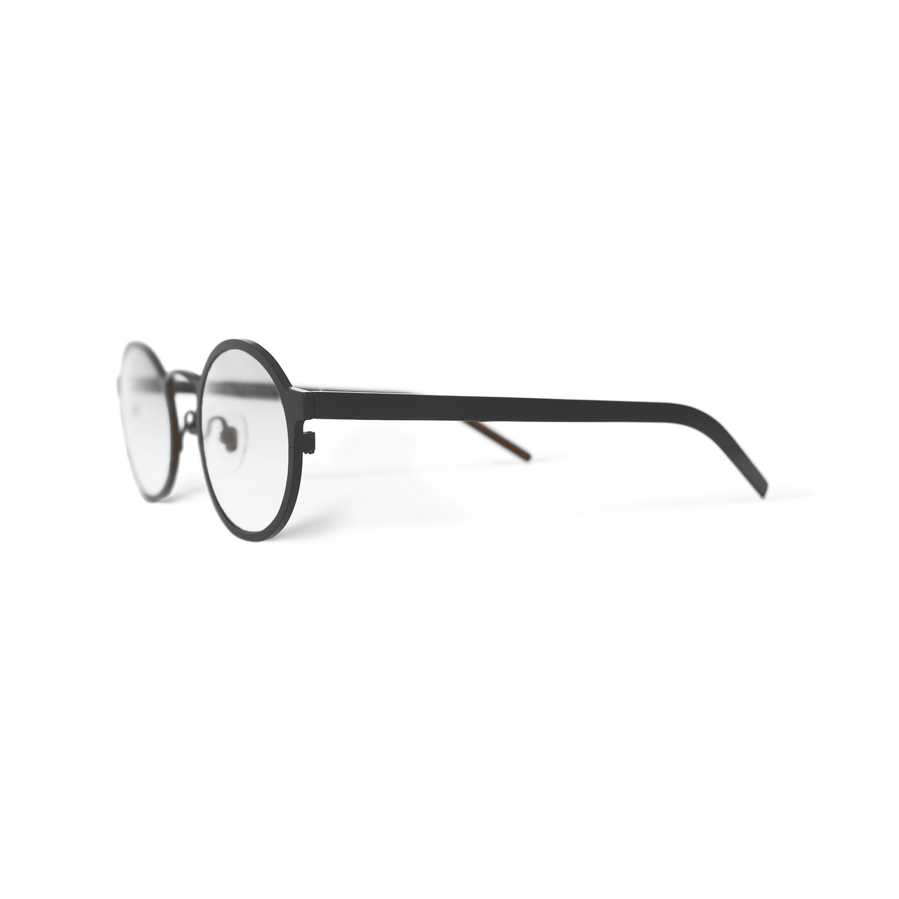 Metal. Matte Black. Clear Lens. - BLYSZAK eyewear eyewear - eyewear, optical, sunglasses