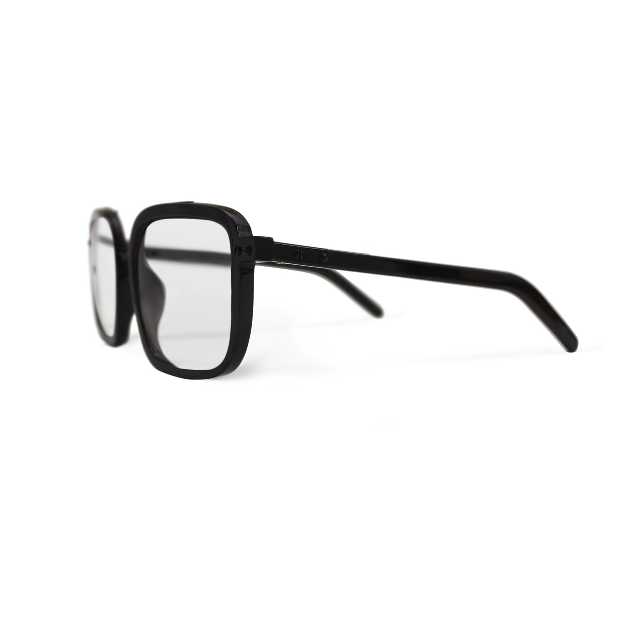 Horn. Dark. Clear Lens - BLYSZAK eyewear eyewear - eyewear, optical, sunglasses