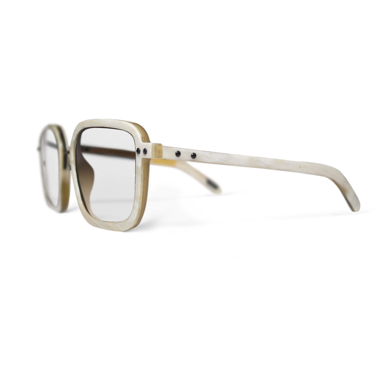 Horn. Oxen. Clear Lens - BLYSZAK eyewear eyewear - eyewear, optical, sunglasses