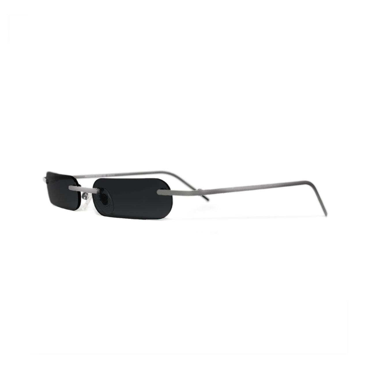 Metal. Polished Silver. Black Lens. - BLYSZAK eyewear eyewear - eyewear, optical, sunglasses