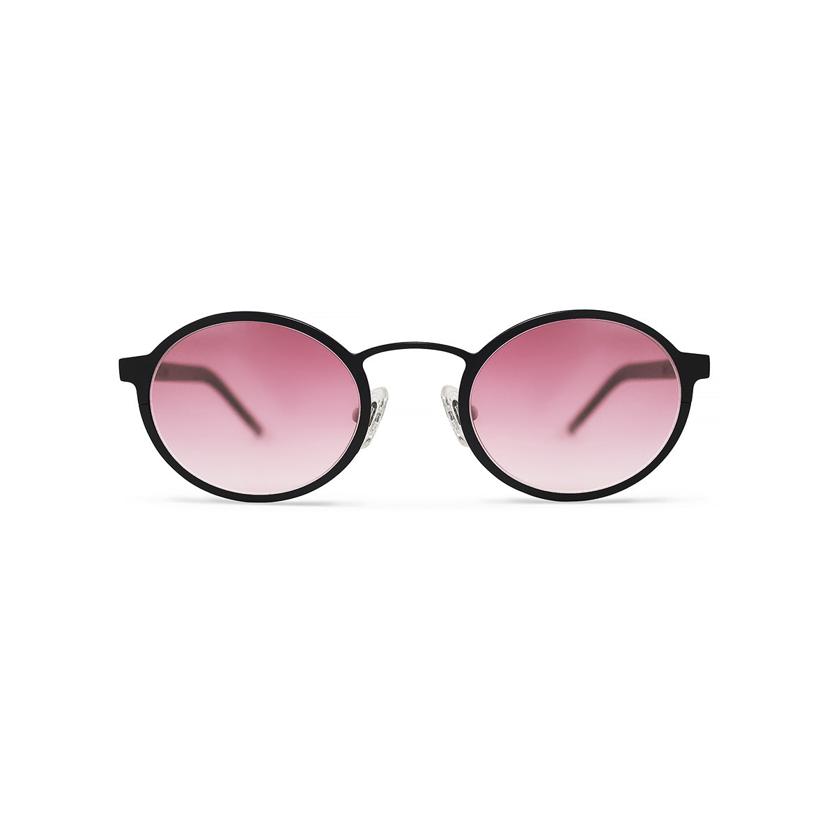 Metal. Matte Black. Blush Lens. - BLYSZAK eyewear eyewear - eyewear, optical, sunglasses