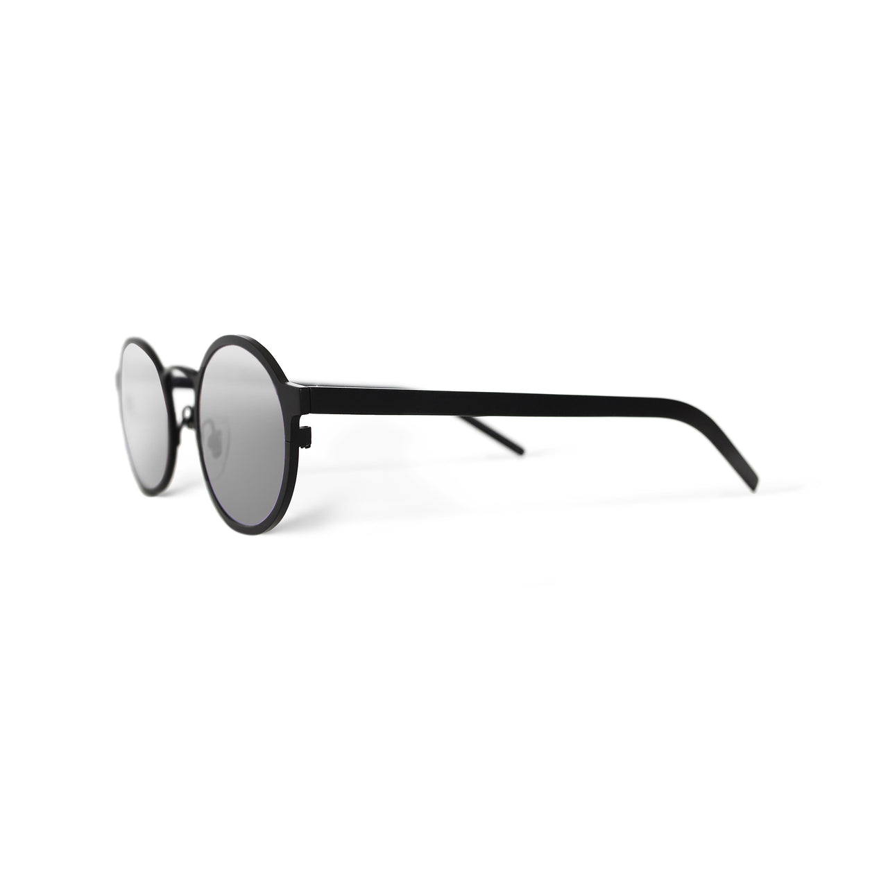 Metal. Gloss Black. Silver Mirror Lens. - BLYSZAK eyewear eyewear - eyewear, optical, sunglasses