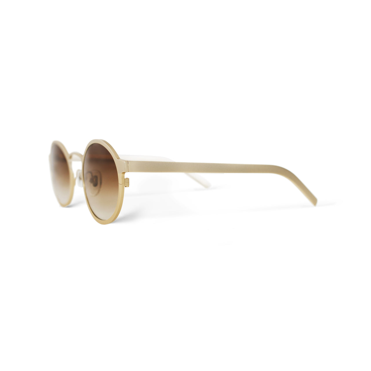 Metal. Brushed Gold. Amber Lens. - BLYSZAK eyewear eyewear - eyewear, optical, sunglasses