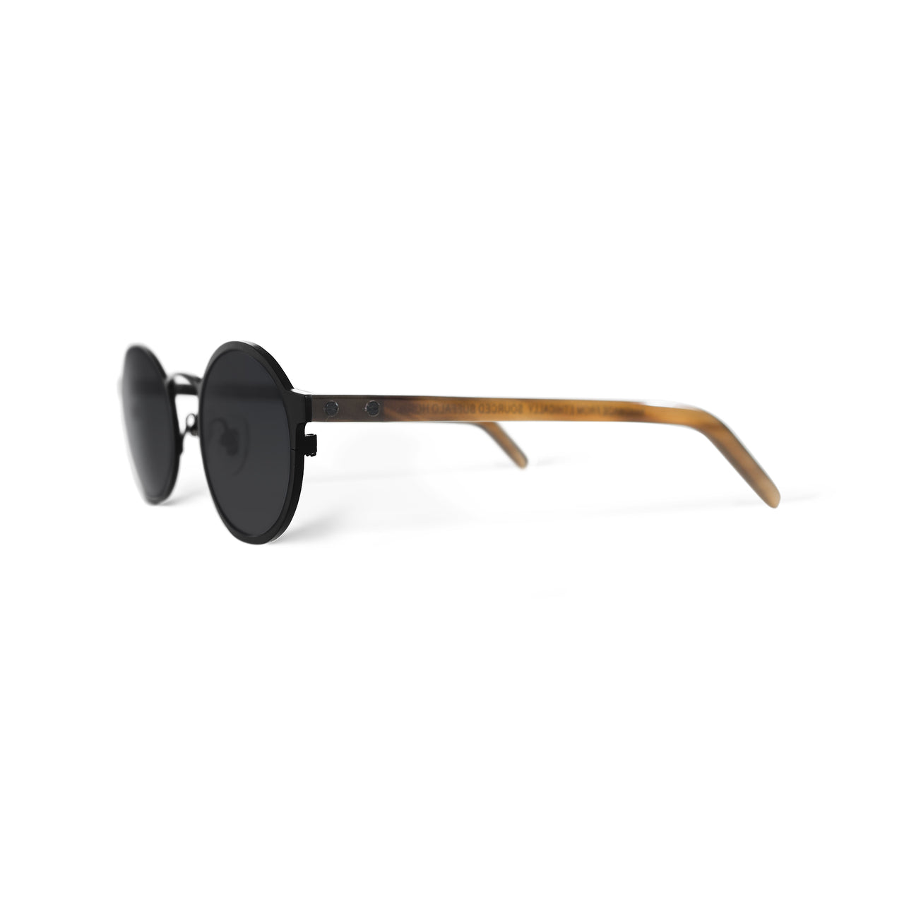 Metal / Horn. Matte Black / Blonde. Black Lens. - BLYSZAK eyewear eyewear - eyewear, optical, sunglasses