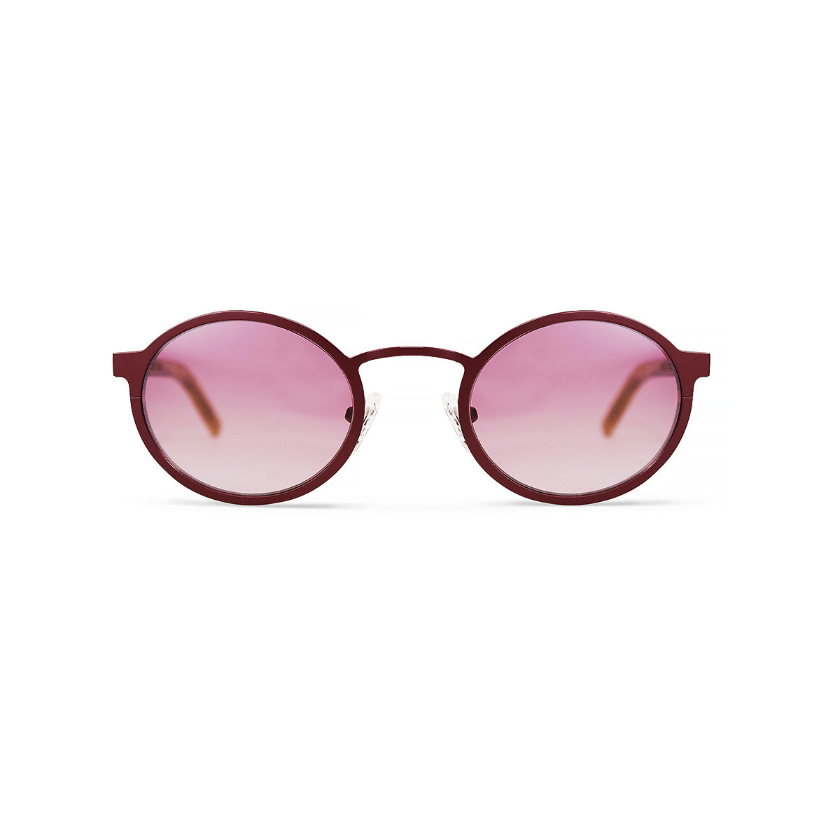 Metal / Horn. Crimson / Light Tortoise. Blush Lens. - BLYSZAK eyewear eyewear - eyewear, optical, sunglasses