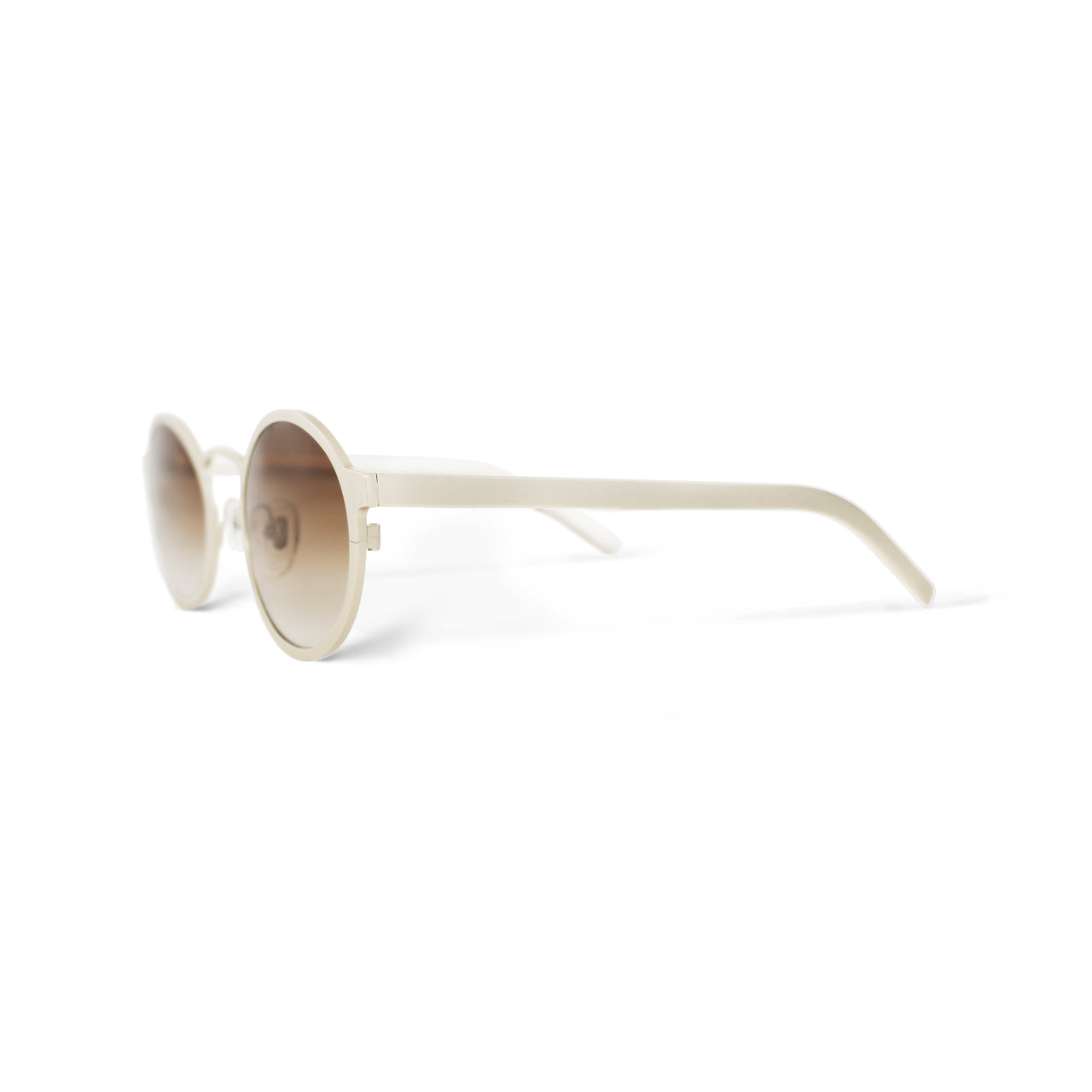 Metal. Gloss Sand. Amber Lens. - BLYSZAK eyewear eyewear - eyewear, optical, sunglasses