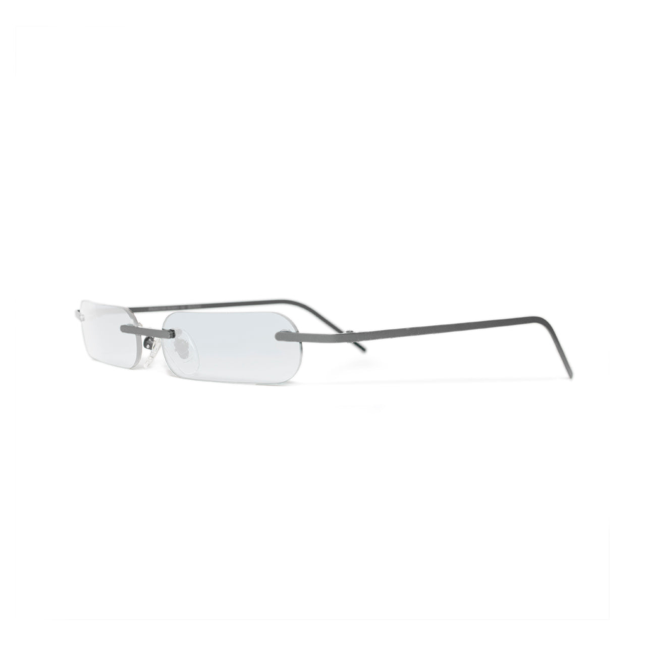 Metal. Polished Silver. Clear Lens. - BLYSZAK eyewear eyewear - eyewear, optical, sunglasses