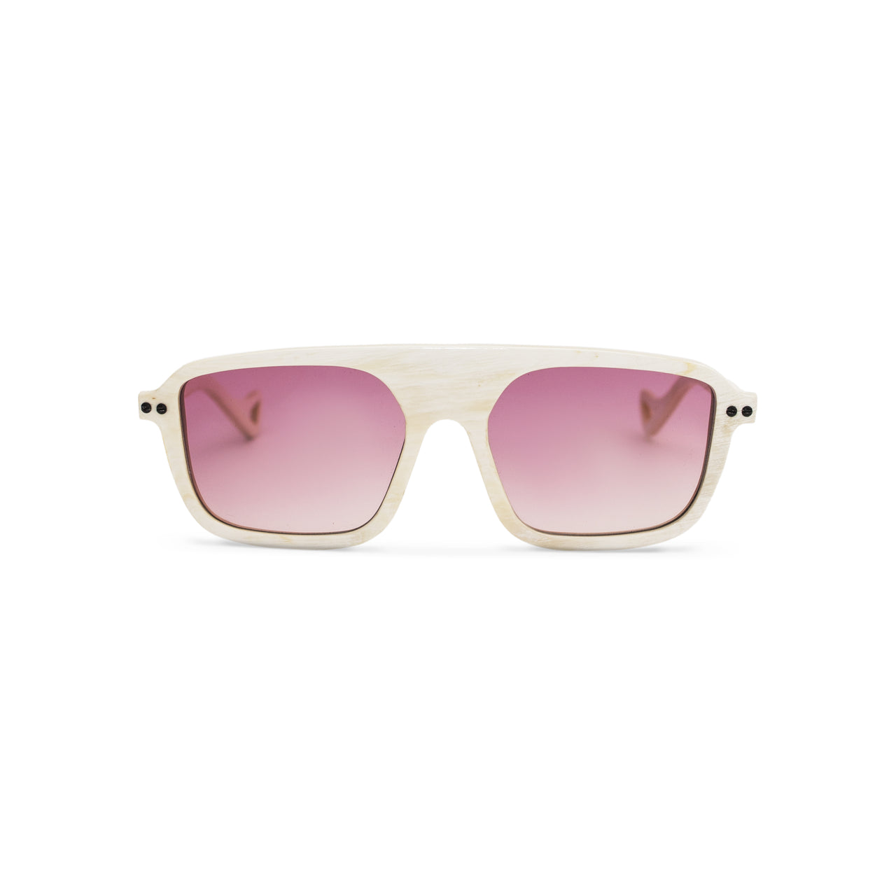 Horn. Oxen. Blush Lens. - BLYSZAK eyewear eyewear - eyewear, optical, sunglasses